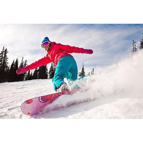 Обучение катанию на сноуборде или горных лыжах